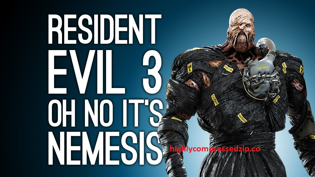 Resident Evil 3 Nemesis Highly Compressed PC Game
