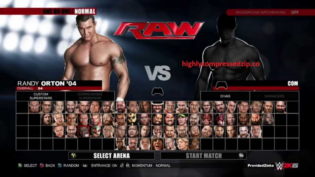 WWE 2K15 Pc Game Full Version Highly Compressed Free Download